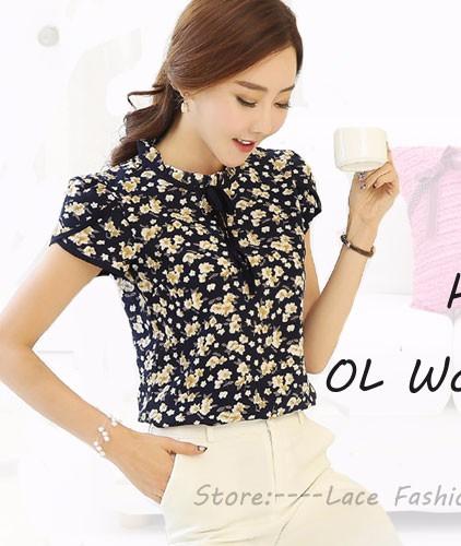 HTB1TMCfRpXXXXaUXFXXq6xXFXXXG - New Women Chiffon blouse Flower long sleeved Casual shirt
