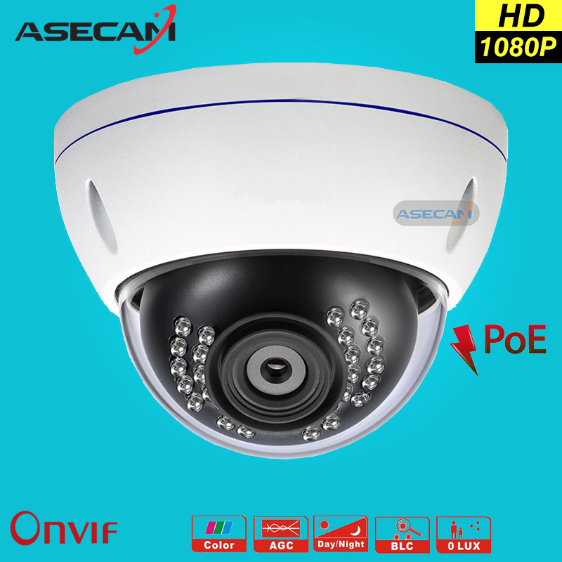New Appearance Full HD 1080P IP Camera Security Home 2MP indoor Metal Dome Waterproof cam CCTV Onvif P2P Surveillance 48V poe<br>