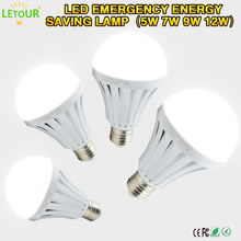 LED Light  E27 Bulb  Emergency Energy Saving Light Rechargeable Battery 18650 Built-in Bulb AC85-240V 5W 7W 9W 12W White Lamp