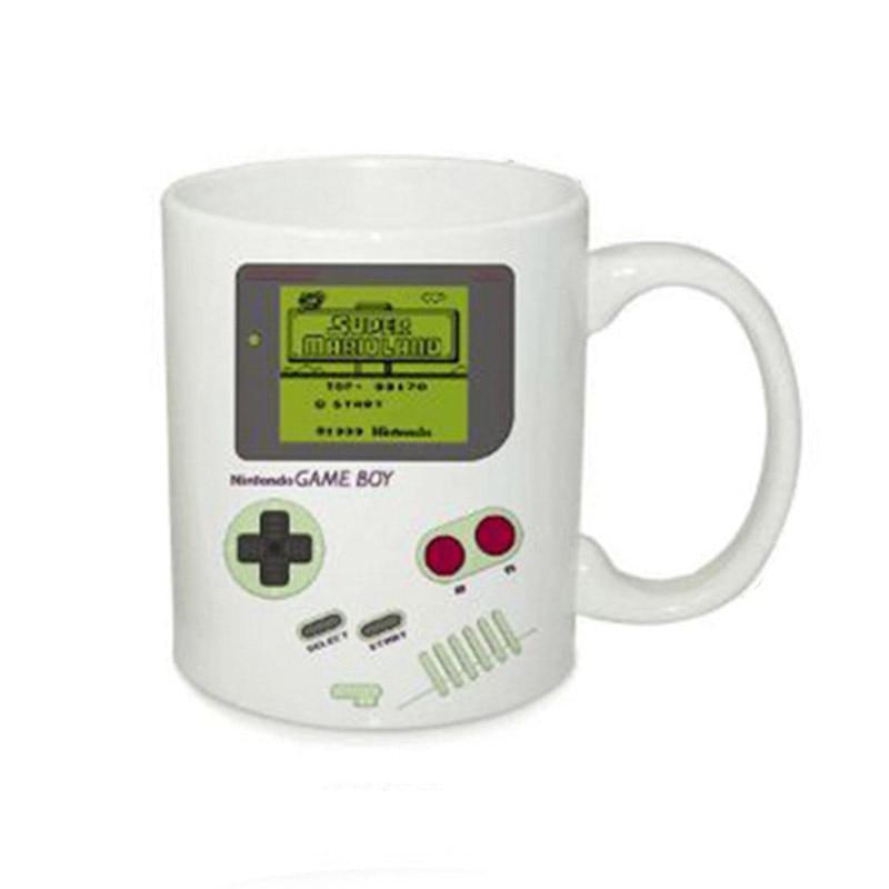 2.2Game Boy Mug Color Change Magic Mug Cup Ceramic Coffee Tea Mug Gamepad Mug Funny Heat Sensitive Cups for Boy Creative Gift