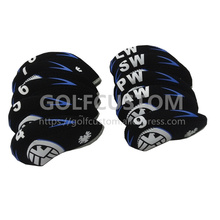 POWO 10pcs Eagle pattern Neoprene Golf  Iron Headcover set one size fit all irons NO# 4 5 6 7 8 9 AW SW PW Club head covers