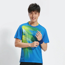 Table Tennis Shirt New Men Table Tennis Clothing Short Breathable Tenis Masculino Quick Dry Badminton Jersey 3070A(China)