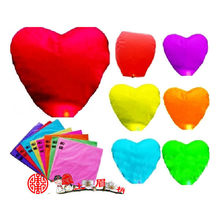 Heart shape Multi Color High Quality Chinese Lanterns Fire Candle Lamp for Birthday Wedding Party lantern Wish Lamp Sky Lanterns(China)