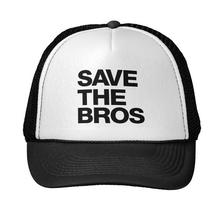 Save the Bros Letters Print Baseball Cap Trucker Hat For Women Men Unisex Mesh Adjustable Size Drop Ship M-7