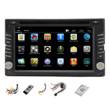Universal double 2 din In dash 6.2'' HD Car Radio Stereo GPS Navigation Car DVD CD Video mp3 player BT+Remote+USB/SD+TV+iPpod(China)