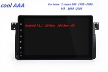 car radio android 7.1.1 HD 1024X600 Quad core For BMW E46 M3(1998-2006) WIFI Bluetooth Phonelink BT 1080P Ipod Map 4G(China)