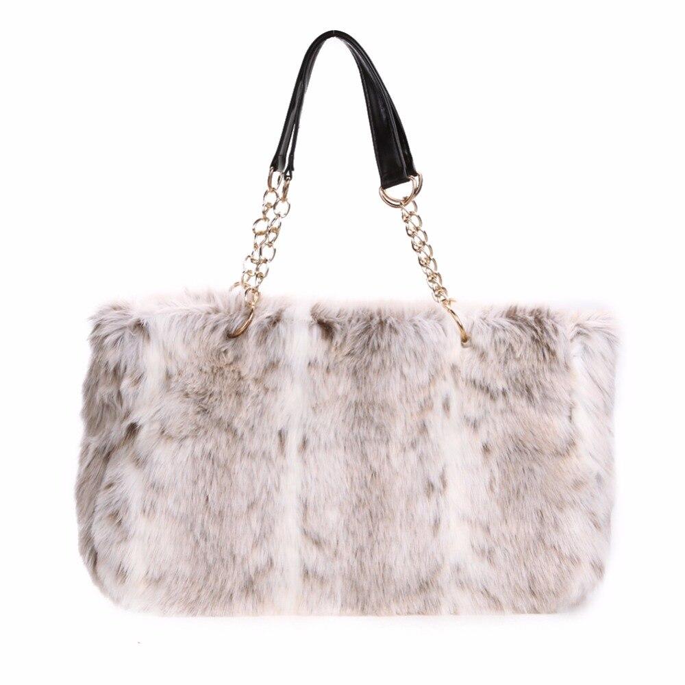Korean Famous Brands Real Rabbit Fur Women Handbag 2017 New Winter Designer Female Fur Shoulder Bag Lady Tote Clutch Good Bag<br><br>Aliexpress