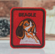 5.42 x 6cm BEAGLE DOG logo badge biker vest iron on patches clothes coat accessory  jacket  embroider Appliques 20pcs/lot