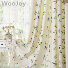 Pastroal Style Cotton Curtains for Living Room Window Panels Curtains for the Bedroom Luxury Curtains Tulles Blinds