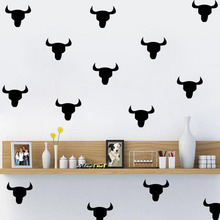 1set Colorful wall sticker for kids rooms Removable Bedroom poster Cartoon Cow Wall Art home decoration accessories 2018(China)