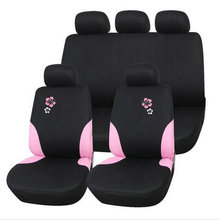 AODELAI Sales Universal car seat covers Polyester composite Sponge styling Pink morning glory printing Automobiles accessories
