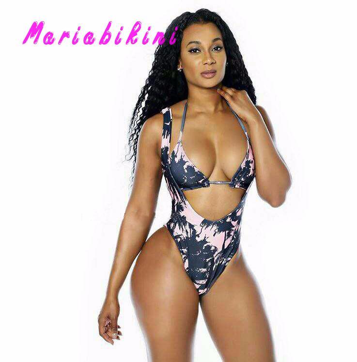 Summer Floral Print Bikini Push Up Swimsuit Bandag Women Thong Push-up Bathers Plus Size Swimwear Bathing Suits Women<br><br>Aliexpress