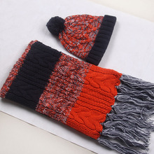 2017 new snow princess hair line hat scarf glove three pieces of women warm fashion gifts(China)