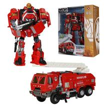 2017 Deformation 2 in 1 Robot Car Rescue Fire Engineering Construction Vehicle Truck Oyuncak Model Toys For Chidren Brinquedos