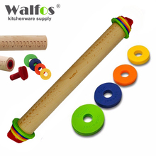 WALFOS food grade wood Rolling Pin Fondant Paste Cake Roller Cake Bakeware Tool-wooden rolling pin Baking & Pastry Tools(China)