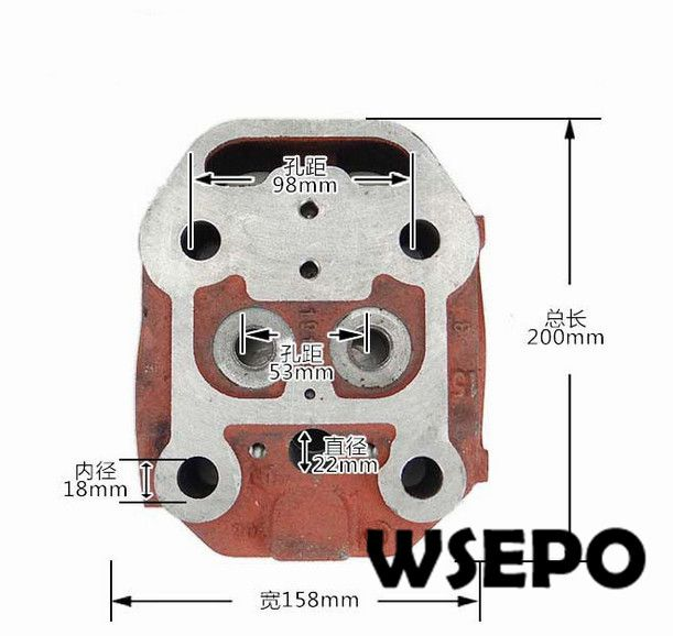 OEM Quality! Cylinder Head Comp for ZS1105 4 Stroke Small Water Cooled Diesel Engine<br>