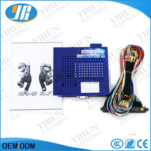 Arcade game pcb Game Elf 619 in 1 board Classical game for CGA monitor and LCD VGA with 28 pin jamma Wire harness(China)