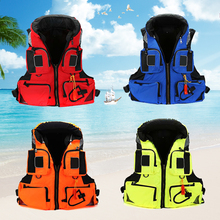 Fishing Safety Survival Vest Universal Water Sports Adult Polyester Swimming Life Jacket Outdoor Swimming Boating Drifting