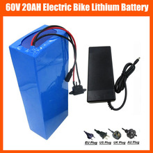 High Power 1800W 60V 20AH Battery 60V 16S Lithium Electric Bike Battery with PVC Case 30A BMS and 67.2V 2A Charger No tax