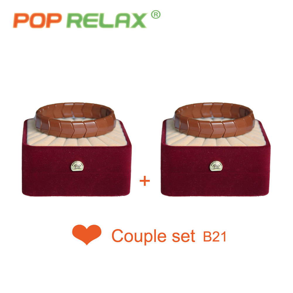 POP RELAX Korea germanium tourmaline bracelet for couples health care new fashion anion stone jewelry bracelet physical therapy<br>