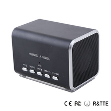 Music Angel Mini Speaker Multimedia Speaker Support Tf Card U Disk Fm Radio with Led Screen Alarm Clock Music Boombox JH-MD05