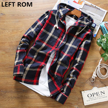 Buy LEFT ROM Fashion men high-end summer slim Fit grid linen long sleeve shirts/male leisure Cotton linen hoodeds shirt S-5XL for $14.00 in AliExpress store