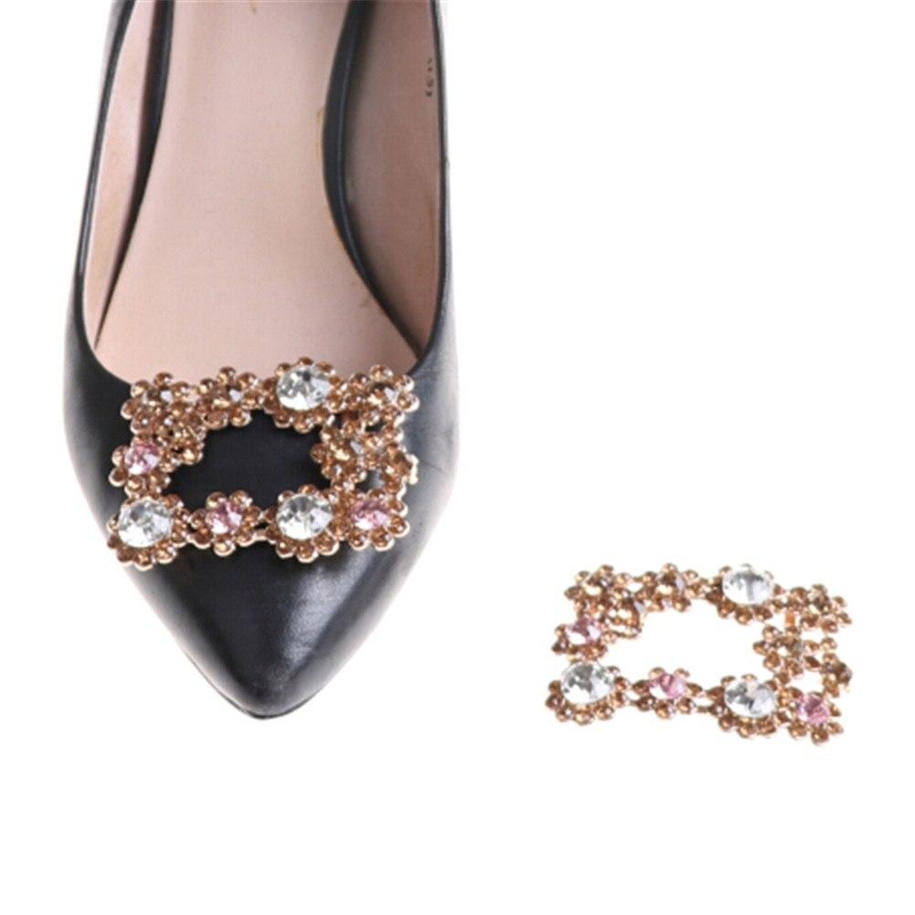 1PCS Fashion Rhinestone Shoes Buckle Elegant Shoe Clips For Shoe Decorations for Women Girl Bridal Shoes Buckle