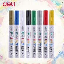 Deli oil Marker pen Water Resistance for Glass Plastic china Wood Leather Paper School and Office Supplies paint oil pen(China)