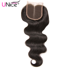 "UNice Hair Middle Part Lace Closure Peruvian Body Wave Non-Remy Hair Closure Swiss Lace 120% Density Human Hair 1 Piece 10""-20"""