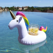 2pcs Inflatable Unicorn Drinks Cup Care Float for Swimming Pool Accessory Bath Room Supplies PVC Cup Seat Water Toys Kids B40015(China)