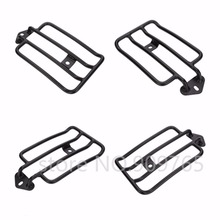Black Solo Luggage Carrier Rear Fender Rack For 2004-Up Harley Sportster XL 883 Sportster 1200(China)