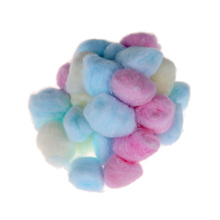 100pcs Colorful Nail Art Cotton Wool Balls Nail Polish Remover Cleaner Pads Wipe Softer Pure Cotton UV Gel Nail Polish Remover
