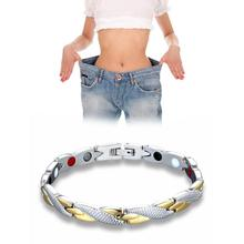 1pc Stainless steel single row magnet Bracelet weight loss health care reduce weight trend jewelry Bracelet slimming product C4