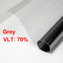 50x 300cm Grey Car Window Tint Film Glass VLT 70%/ Roll 2 mil thickness Gray Car Auto House Commercial Solar Protection Summer