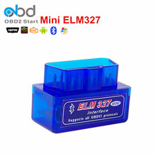 2017 Mini ELM327 Bluetooth V2.1 Code Scanner Support Multi-Language ELM 327 Tester Works Multi-Brands CAN-BUS Protocols