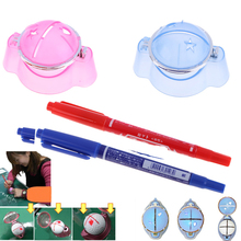 Excellent quality Golf Ball Liner Marker Template Drawing Alignment Tool + Pen Training Golf Accessories Practice Set Plastic(China)