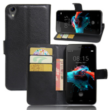 Homtom HT16 Case Luxury Wallet PU Leather Flip 5.0 inch Phone Back Cover Funda Bags Stand - Vertical edge store