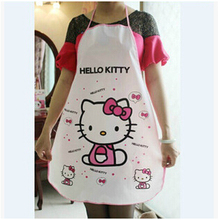 Waterproof PE Cartoon Apron Kitchen Apron Home Cleaning Apron Cooking Apron 1Piece Free Shipping