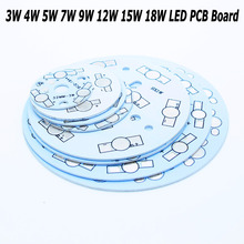 Wholesale LED Heat Sink Aluminum Base Plate 3W 4W 5W 7W 9W 12W 15W 18W LED PCB Board DIY for 1W High Power LED Chip