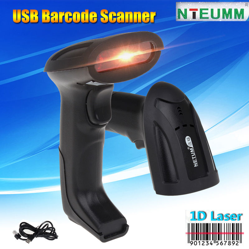 Free shipping!NTEUMM USB Wired Laser Scanning Barcode Scanner Bar Code Reader Handheld For PC<br><br>Aliexpress