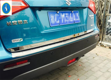 New Style For Suzuki Vitara 2015 2016 2017 Stainless Steel Rear Behind Tail Trunk Lid Cover Kit Trim 1 Pcs(China)