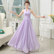 women long formal sexy cheap lilac elegant party time formals ladies halter prom dress women dresses under 50 2017 W1852