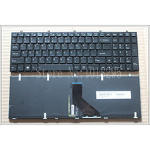NEW  Laptop Keyboard For Clevo  W650  W350SKQ W370STQ W670SR Black  Blacklight  US Keyboard