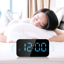 Original LED Alarm Clock LED Display Voice Control Electronic Snooze Backlight Desktop Digital Table Clocks Watch With USB Cable(China)