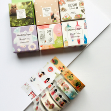 10 Meters Long Paper Masking Tape Japanese Washi Tape DIY Scrapbooking Decorative Sticker Stationery School Supply Papeleria