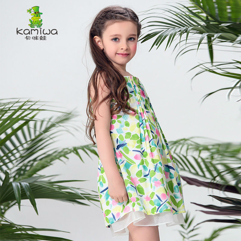 KAMIWA 2017 Summer Floral Print Mesh Princess Party Toddler Flower Baby Girls Dresses Knee-length Children Clothing Kids Clothes<br><br>Aliexpress