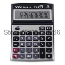 1Piece Deli 1619 Office Commercial Model Classic Practical Voice Calculator 12 Digits Large LCD Screen large Calculator