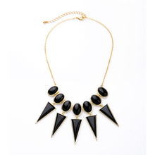 New Design Boutique Necklace Maxi Black Resin Made Well Suited Pendants Charm Accessories Necklaces Party Bijoux(China)