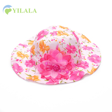 Fashion Panama Girls Summer Hats Flower Kids Sun Hats Cotton Peral Caps For Girls Print Panama Caps Soft Baby Accessories