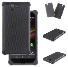 For Sony Xperia Z Case Rubber Cushion Armor Hybrid Drop Protection Cover Shock Proof Case For Sony Xperia Z C6603 C6602 Case